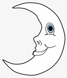 Free Moon Black And White Clip Art with No Background.