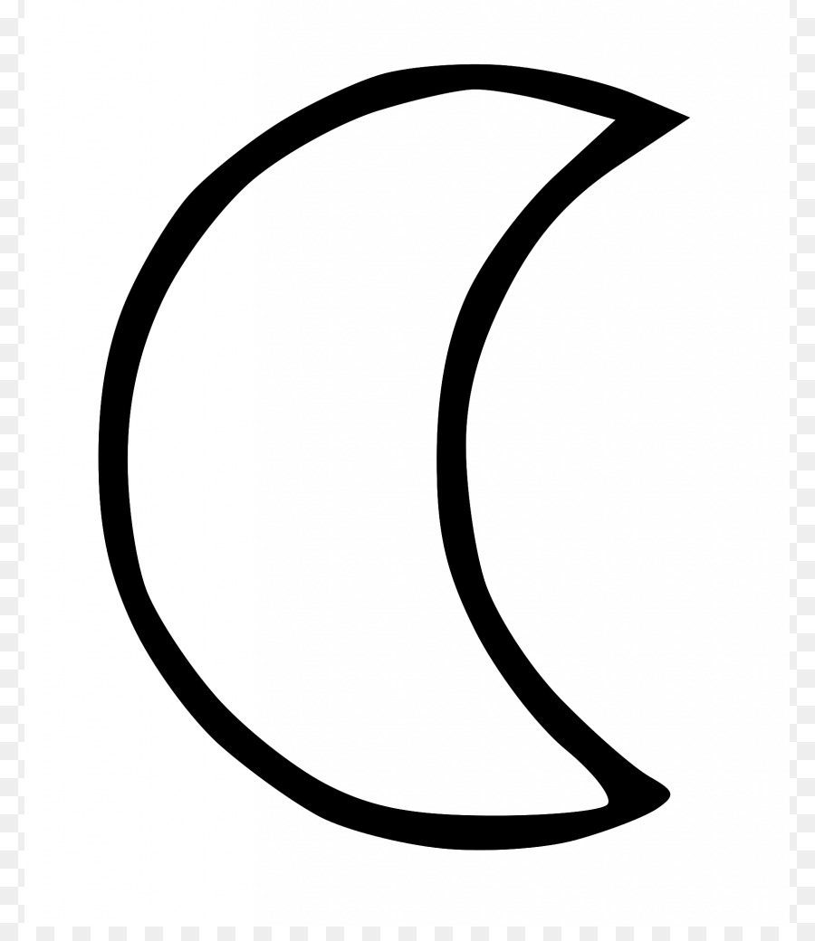 Black And White Clipart Moon.