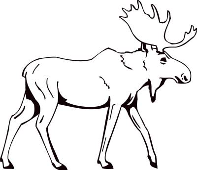 Moose clipart black and white » Clipart Station.