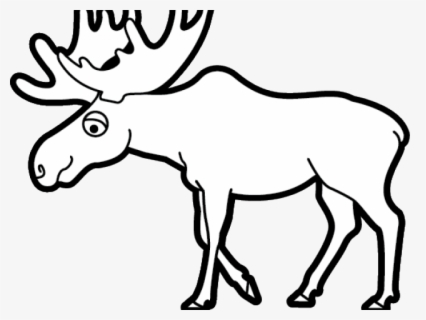 Free Moose Black And White Clip Art with No Background.