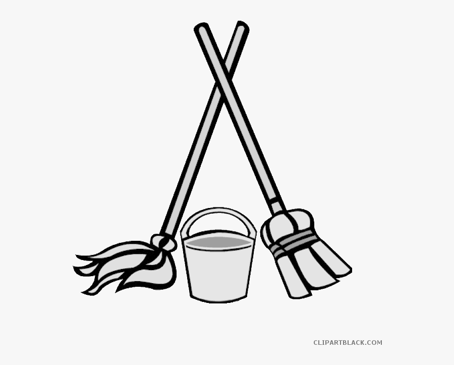 Mop Clipart Black And White.