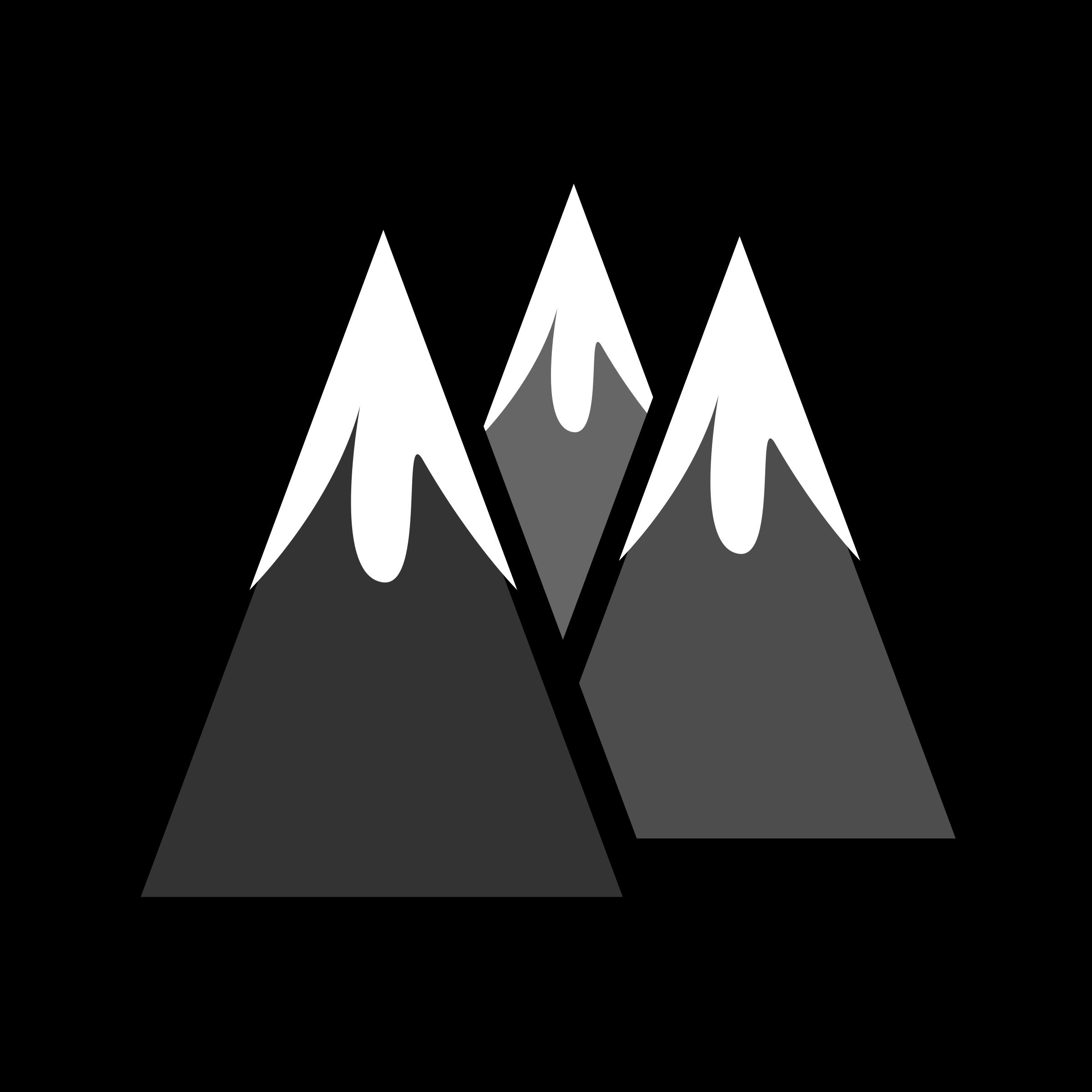 Mountain black and white mountains mountain clipart black.