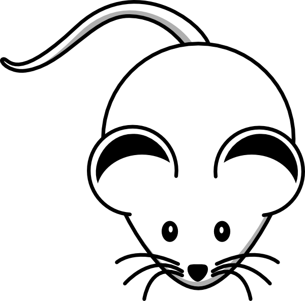Computer Mouse Clipart Black And White.