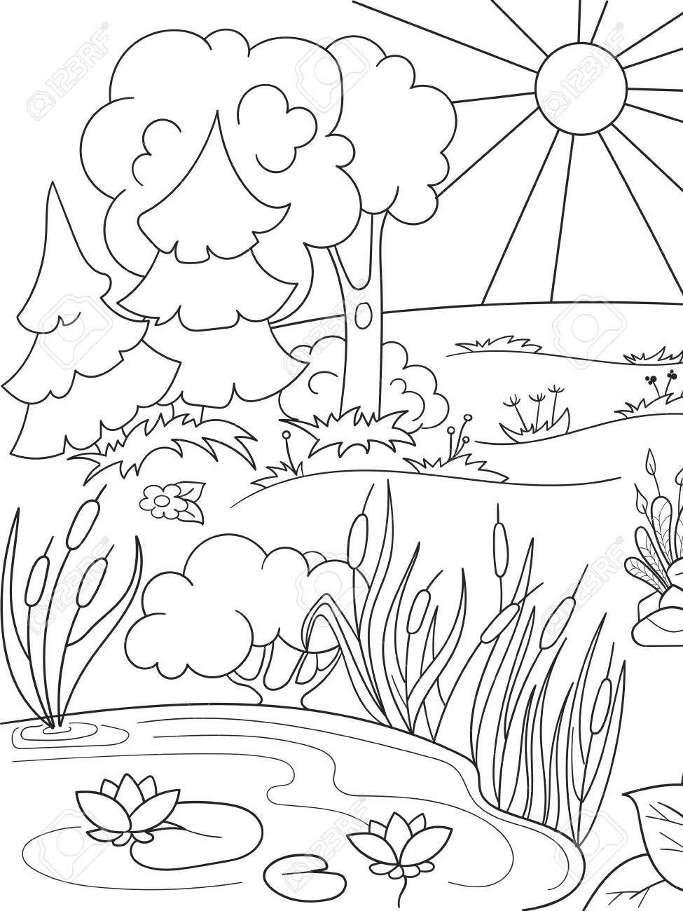 Nature Black And White Clipart.