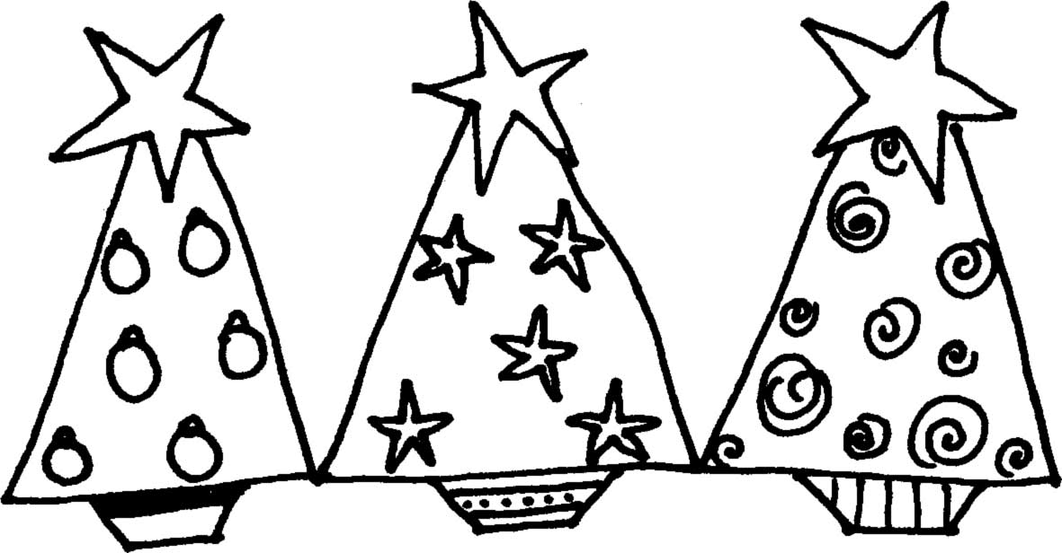 Christmas Tree Line Drawing.