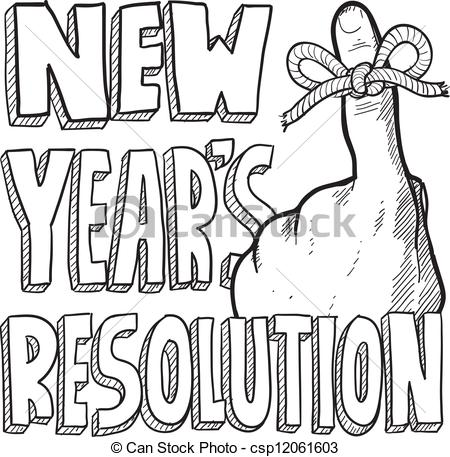 Clipart Of Happy New Year For Church Bulletin Front.