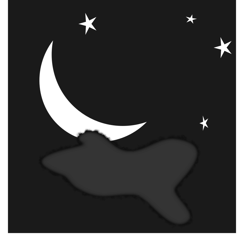Crescent Moon Drawing clipart.