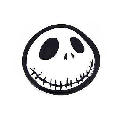 Nightmare Before Christmas Skellington Jack Head Black White Enamel Belt  Buckle.