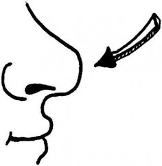Black And White Clipart Nose.
