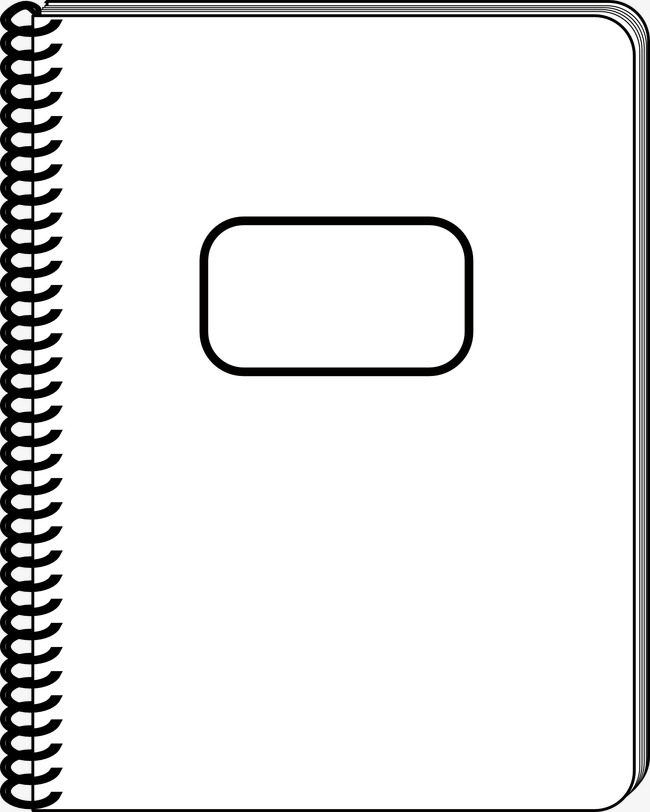 Notebook black and white clipart 2 » Clipart Station.