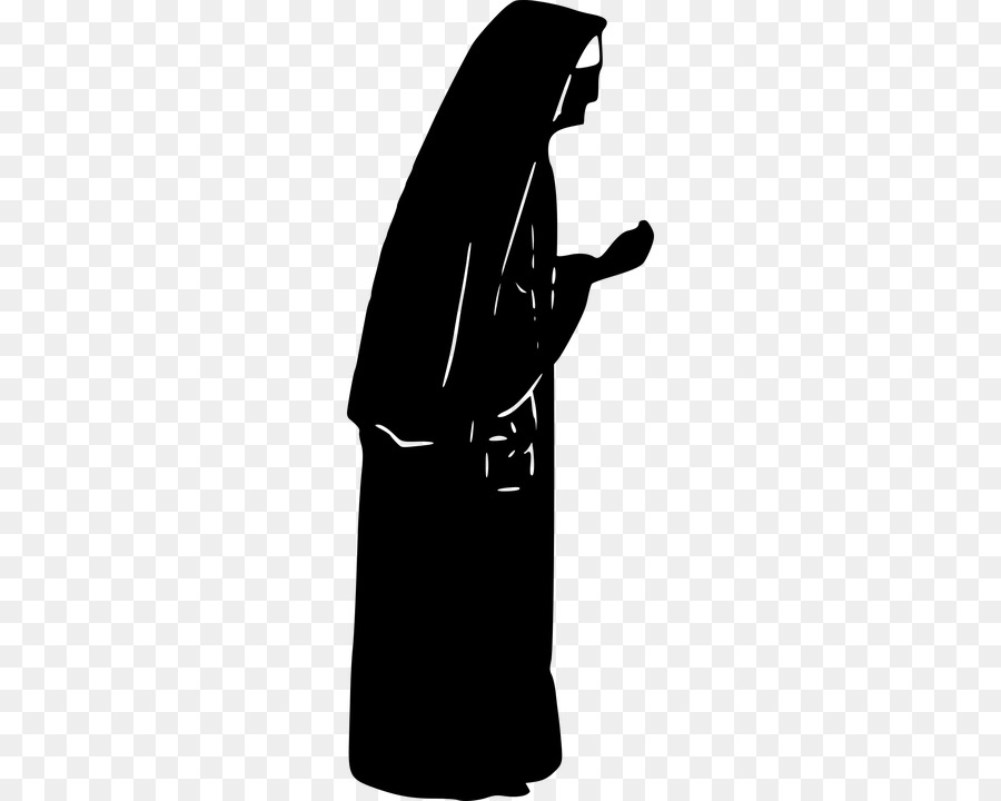 Nun Black png download.