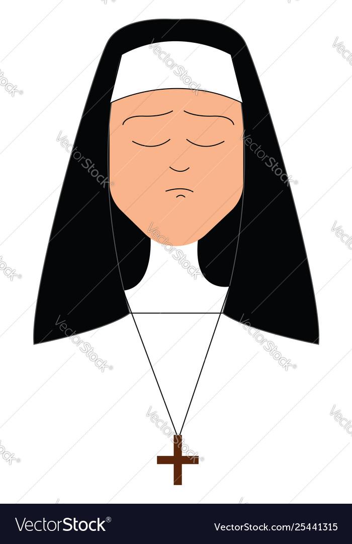 Clipart a sad nun or color.
