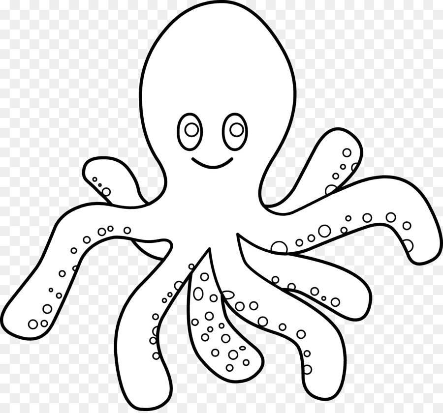 Black And White Clipart Of Octopus.