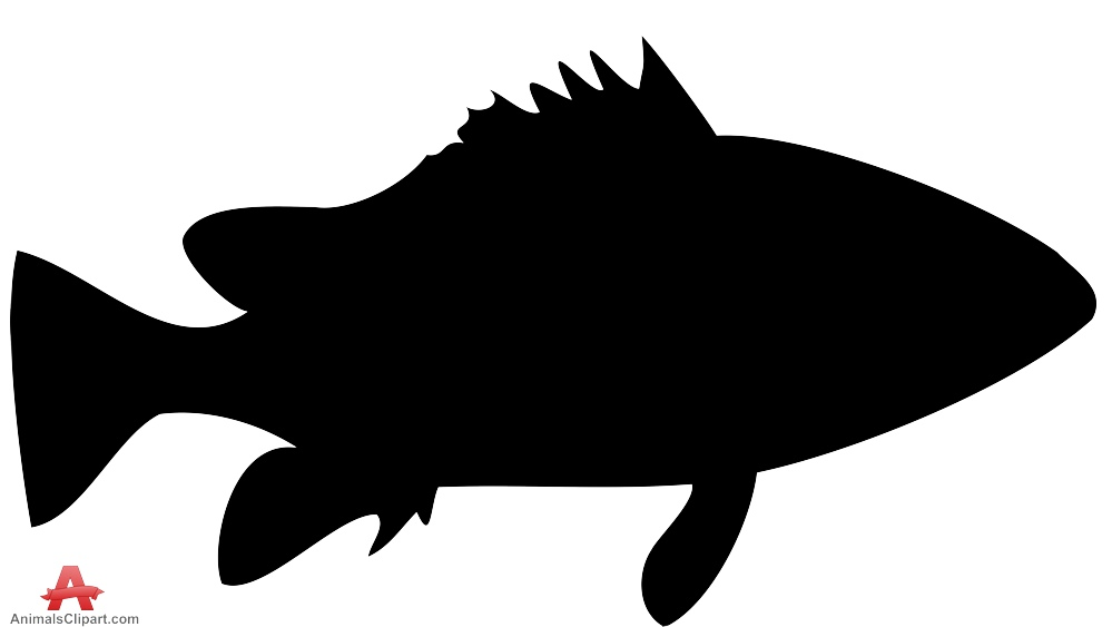 Eastern Wirrah Fish Black Silhouette.