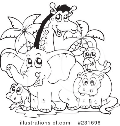 Clip Art Animals Black And White, Download Free Clip Art on.