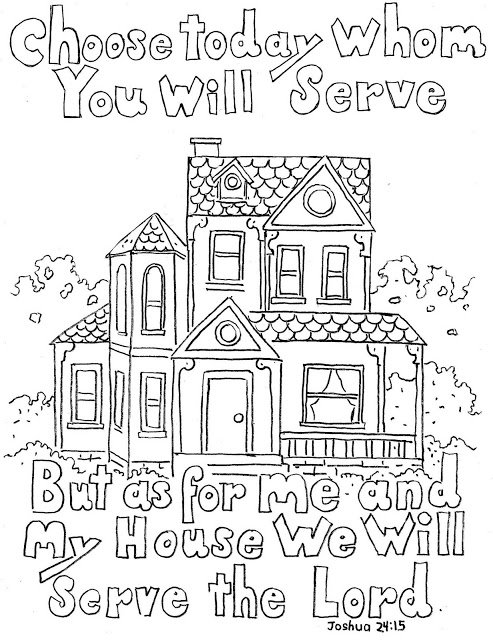 Coloring Pages for Kids by Mr. Adron: Joshua 24:15 Print And Color.