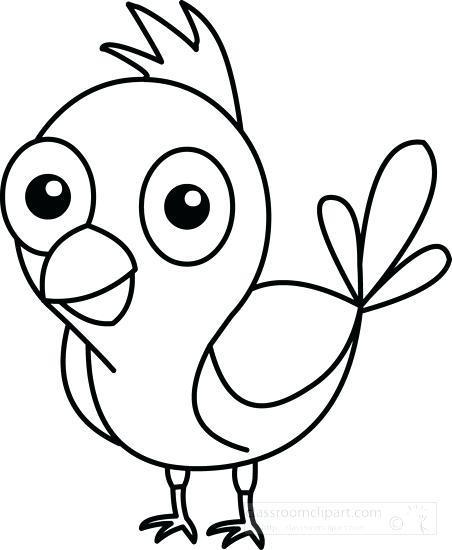 Cute birds clipart black and white » Clipart Portal.