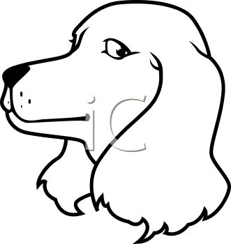 Dog Clip Art Black And White.