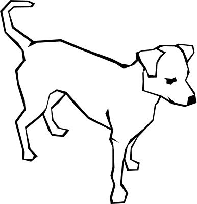 Dog black and white clip art.