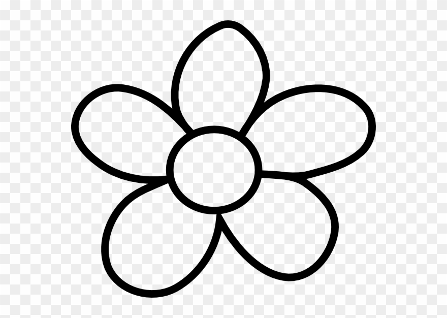 Gallery Of Clip Art Flower Black And White Clipart.
