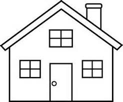 Image result for house clipart black and white.