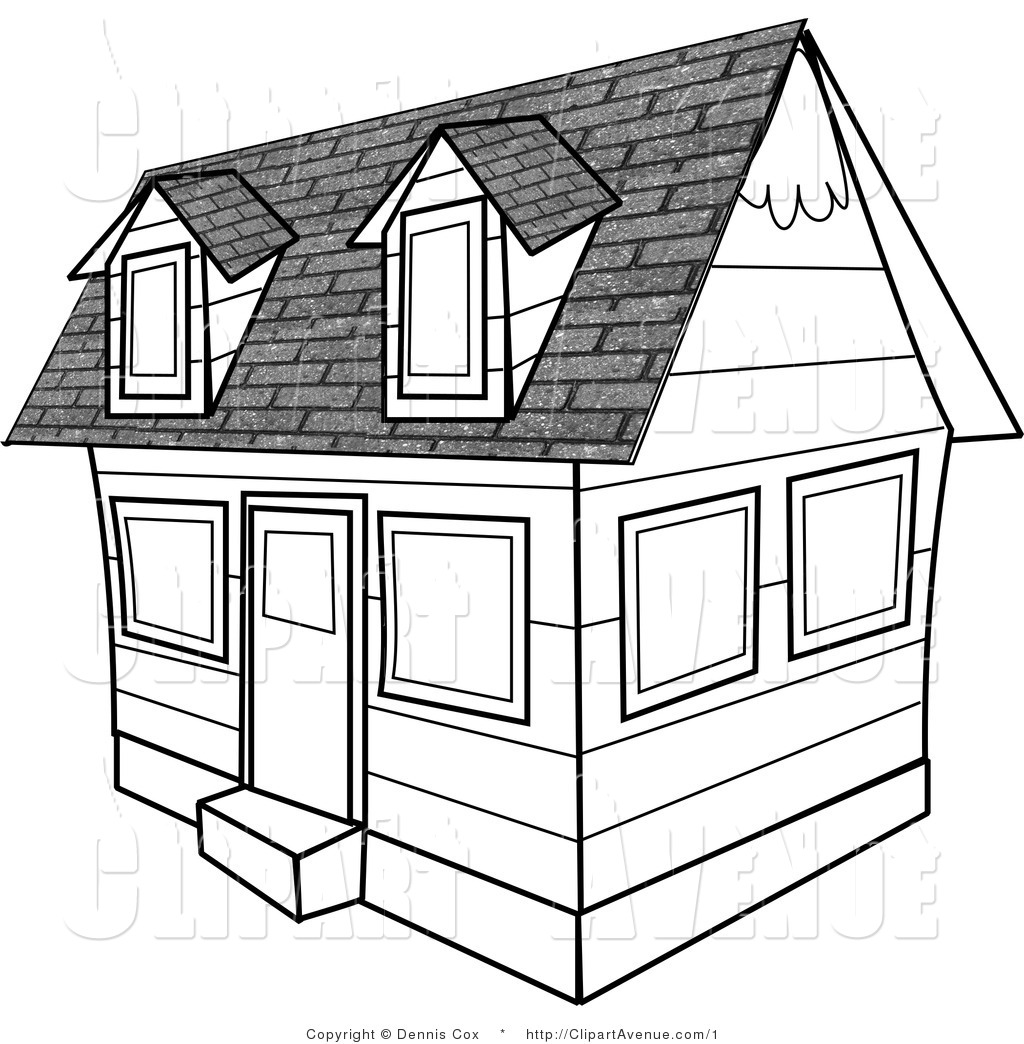 Black And White Clipart House.