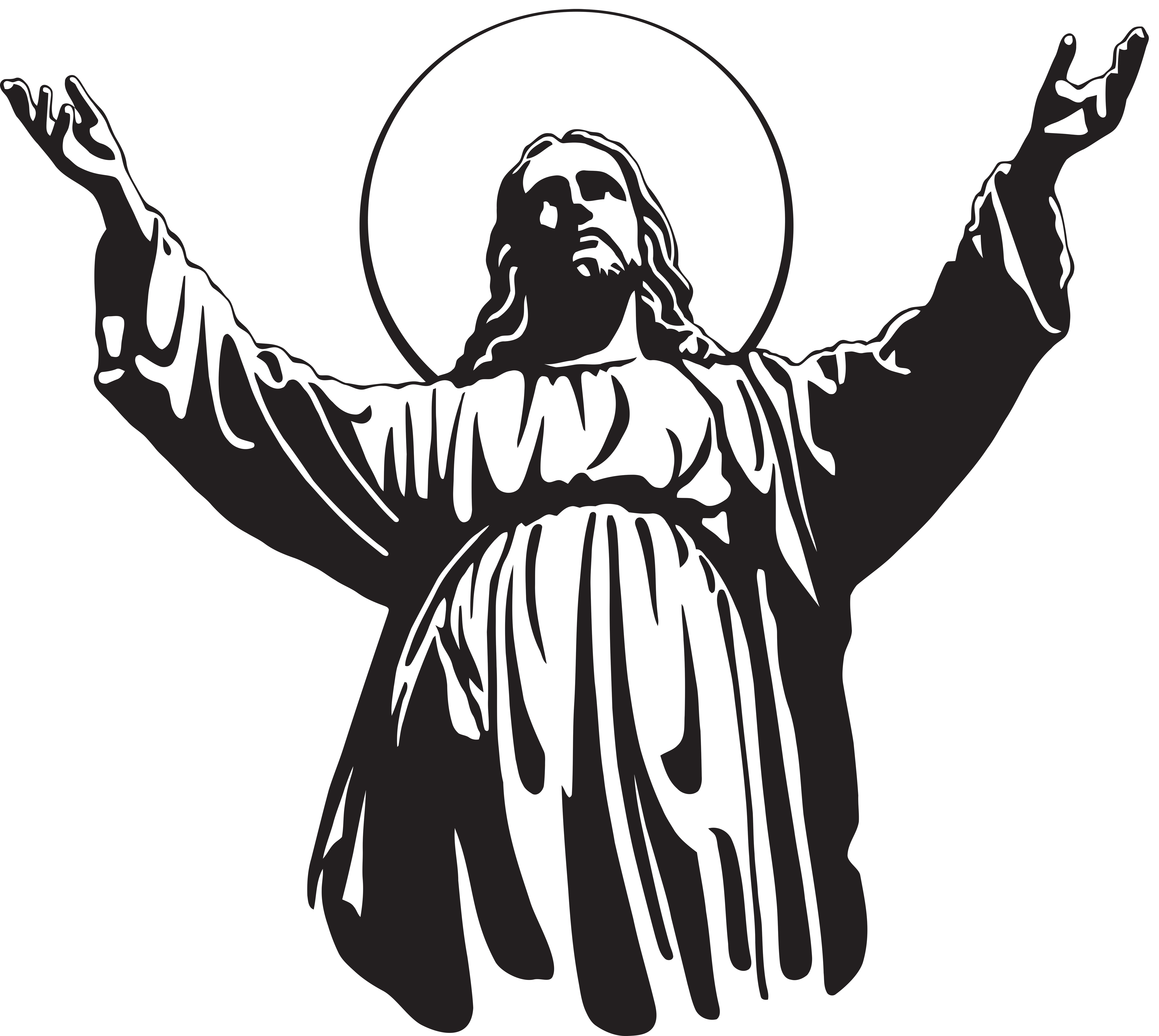 Jesus Ascension Clipart.