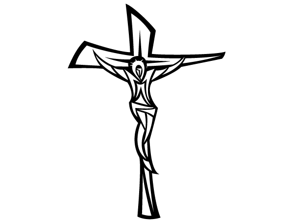 Crucifix Clipart Black And White.