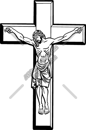 Black And White Clipart Of Jesus On The Cross.