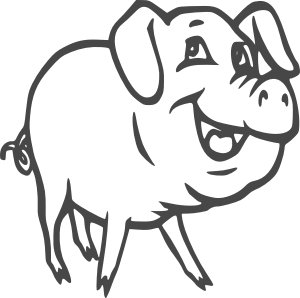 Vector and Black And White Pig Clipart 3379 Favorite ClipartFan.com.