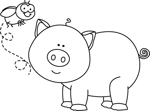 Vector and Cute Pig Black And White Clipart 3387 Favorite.
