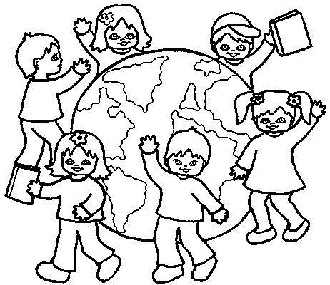School Children Clipart Black and White craft projects, Black and.