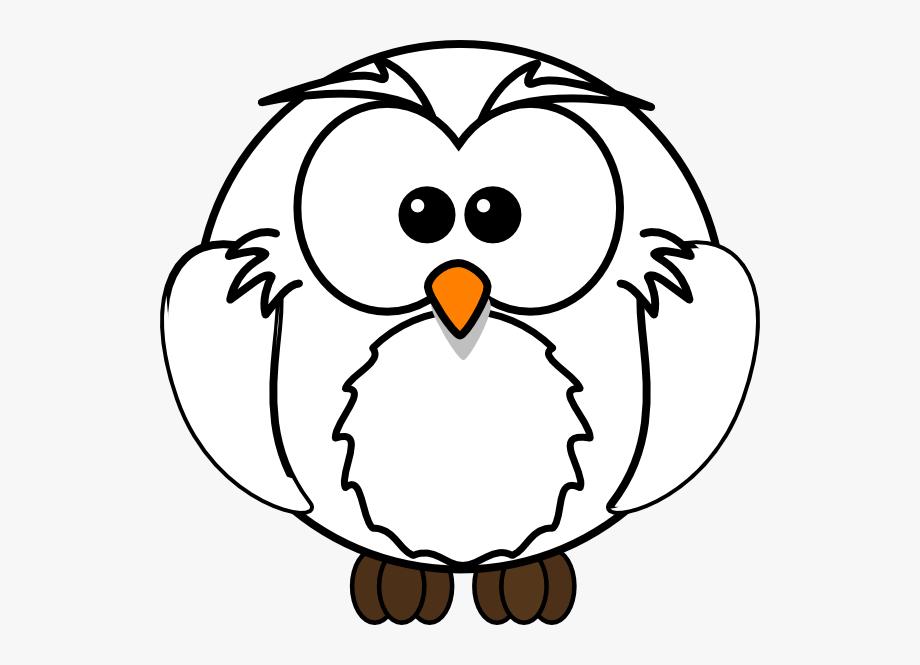 White Owl Clip Art.