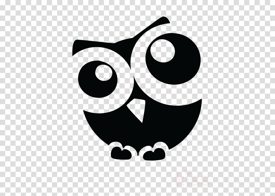 owl black cartoon black.