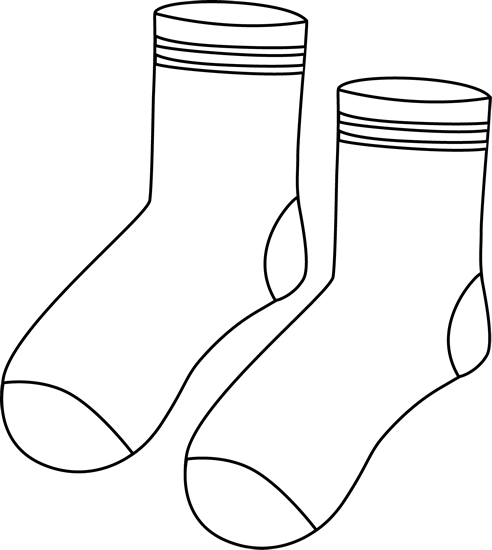 Pair of Black and White Socks.