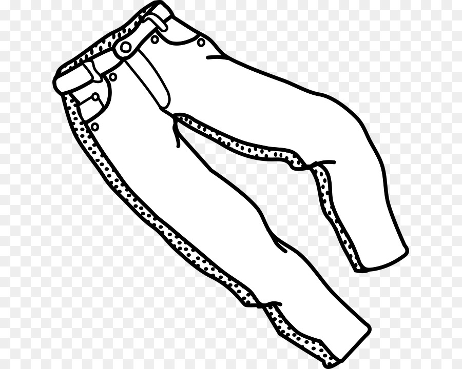 Jeans Cartoon clipart.
