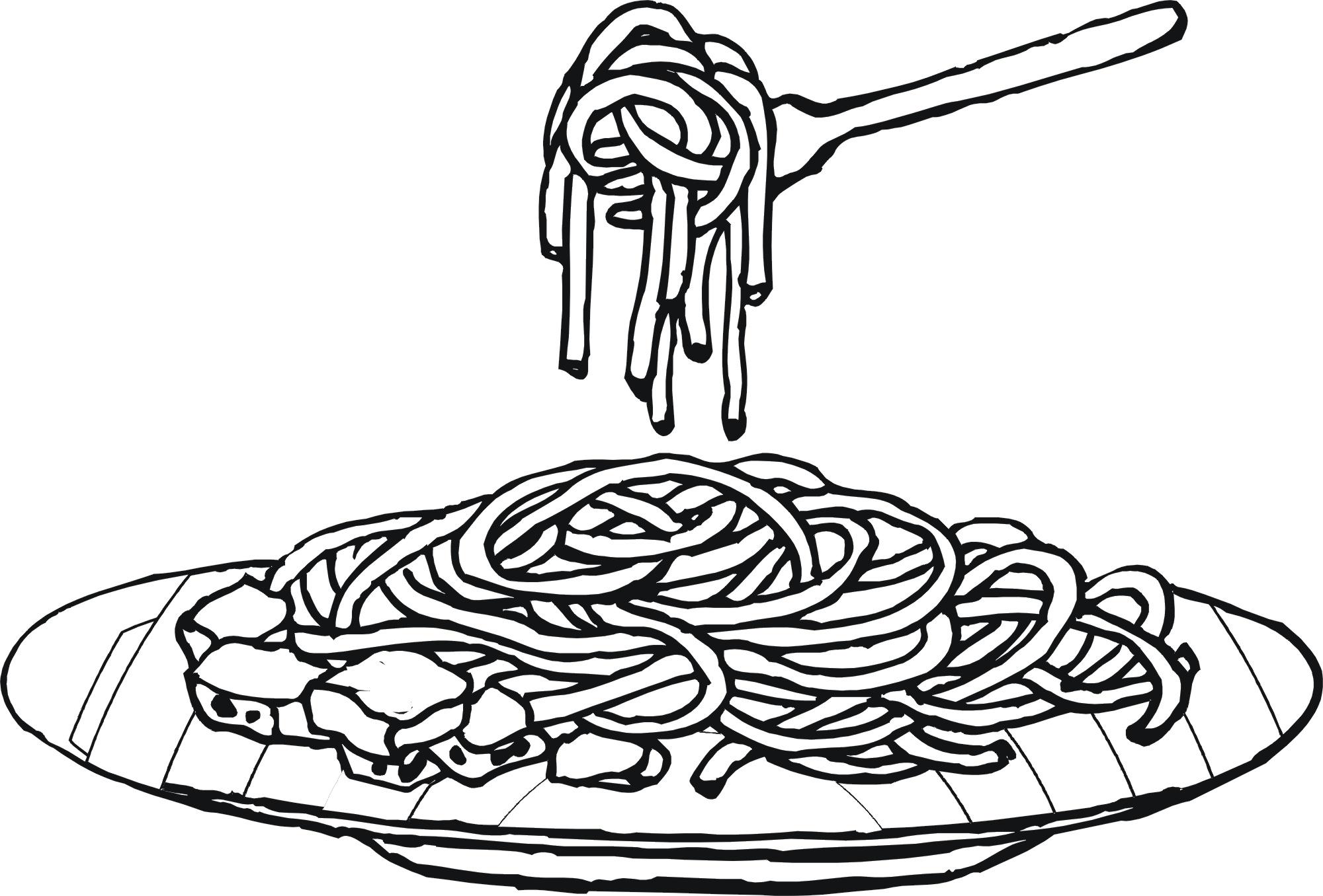 Download High Quality pasta clipart black Transparent PNG.