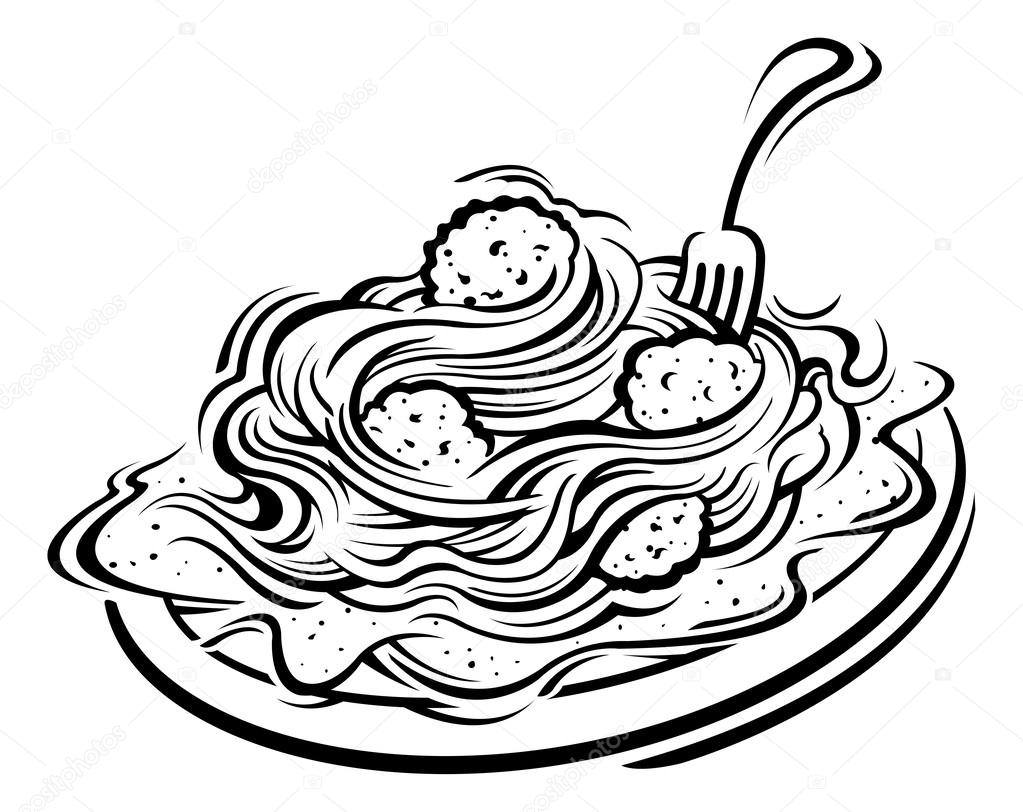 Download High Quality pasta clipart black Transparent PNG.