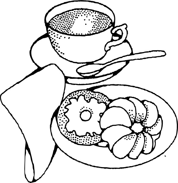 Coffee And Pastry clip art Free vector in Open office.