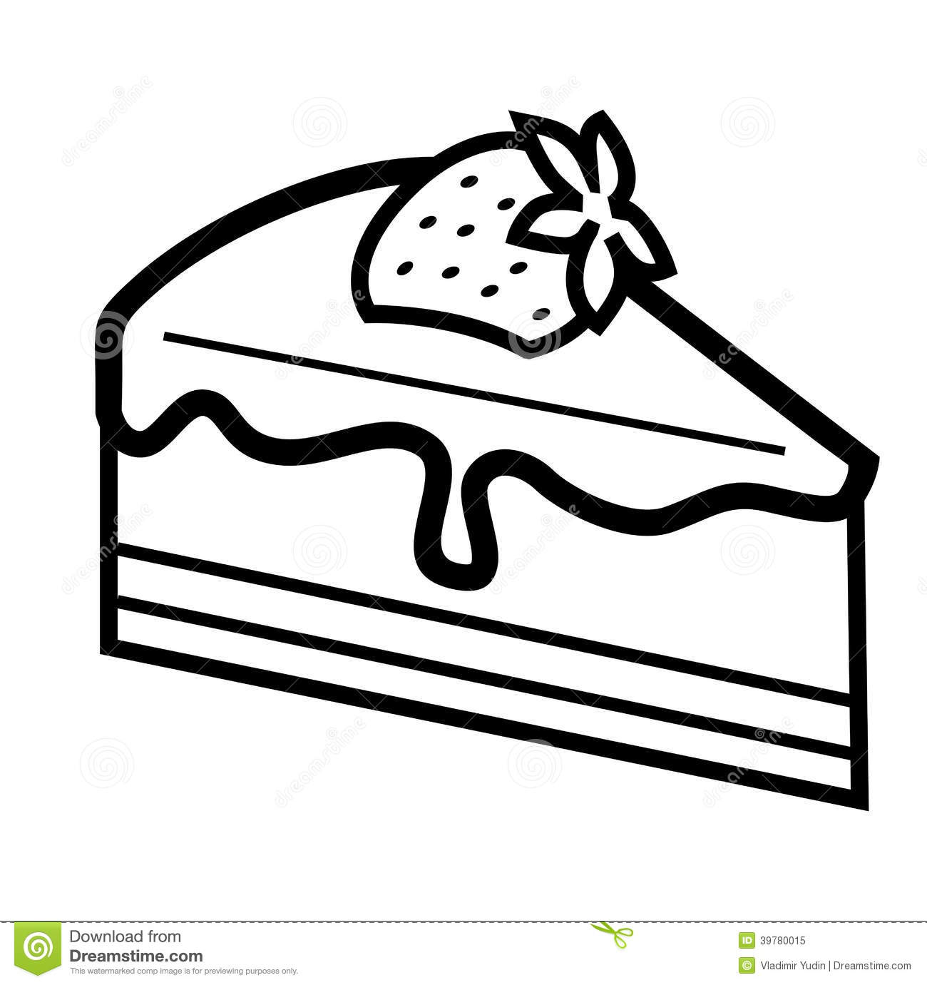 Piece Of Cake Clipart Black And White.