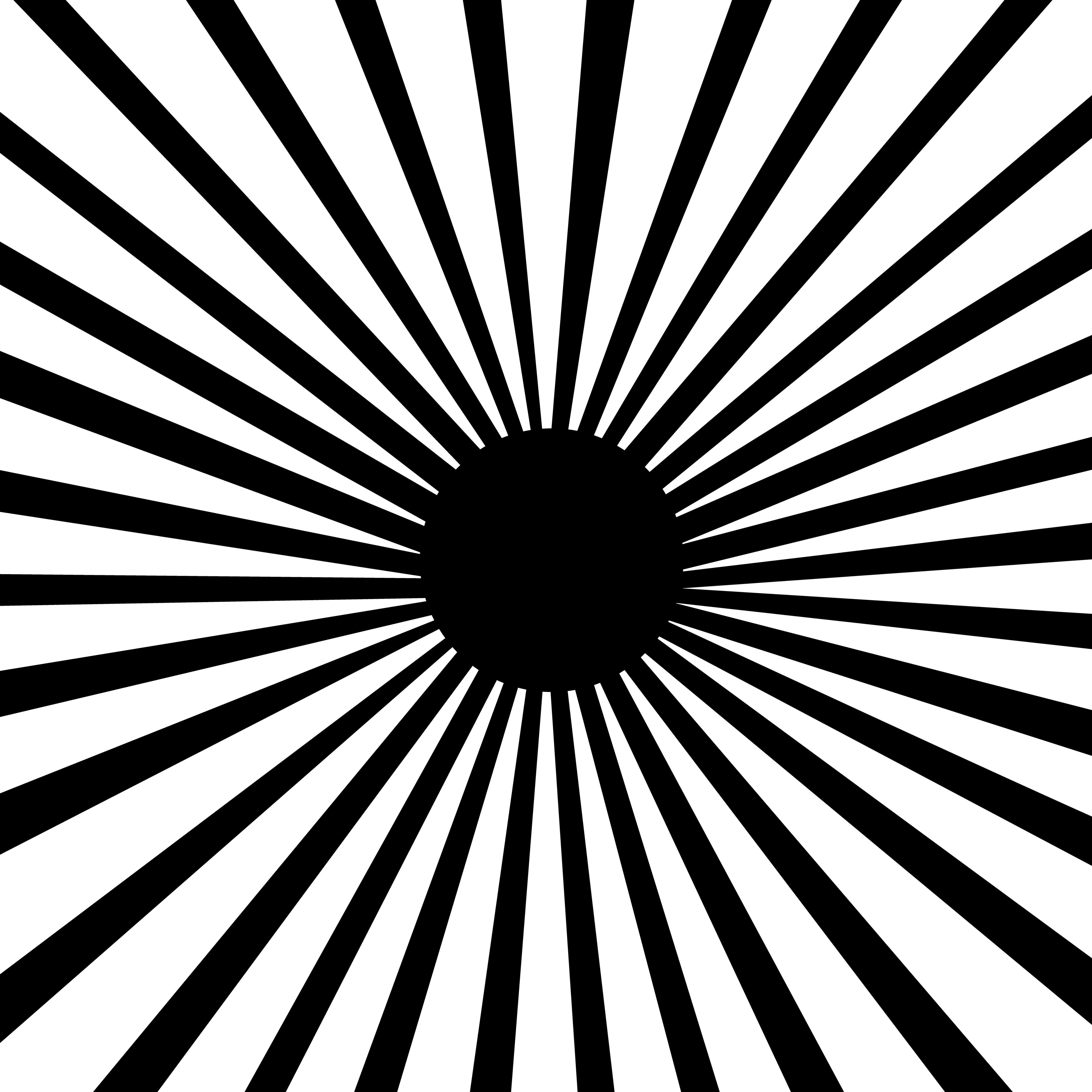 Lineart Burst Pattern Inverse Black White Clip Art.