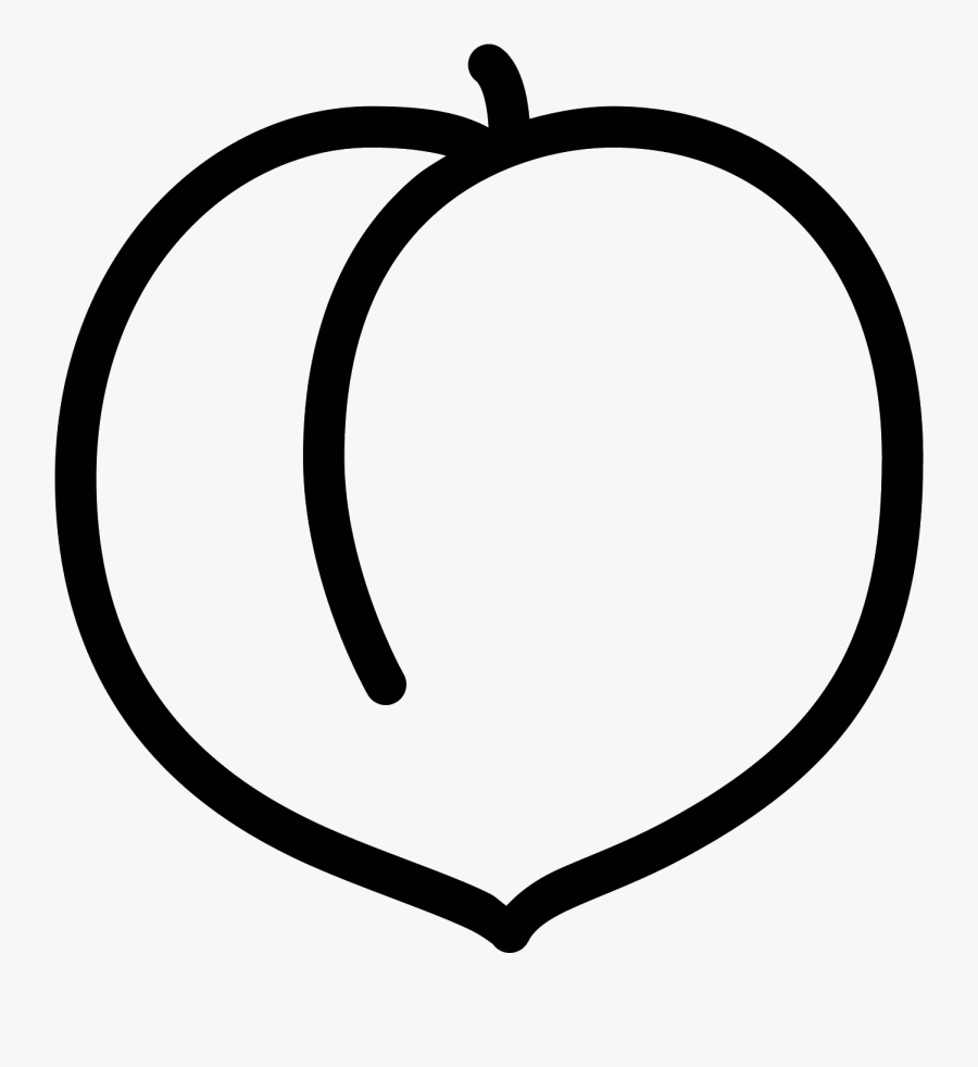Clip Art Black And White Peach.