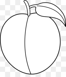 Peach Black And White PNG.