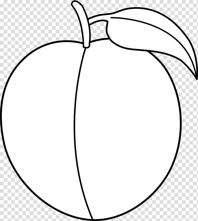 Black and white Peach , Peach transparent background PNG.