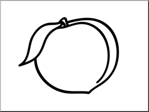 Clip Art: Basic Words: Peach B&W Unlabeled I abcteach.com.