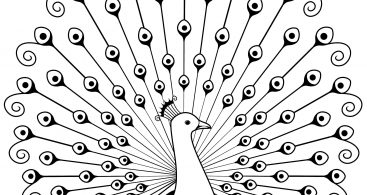 Clip Art Black And White Peacock Archives.