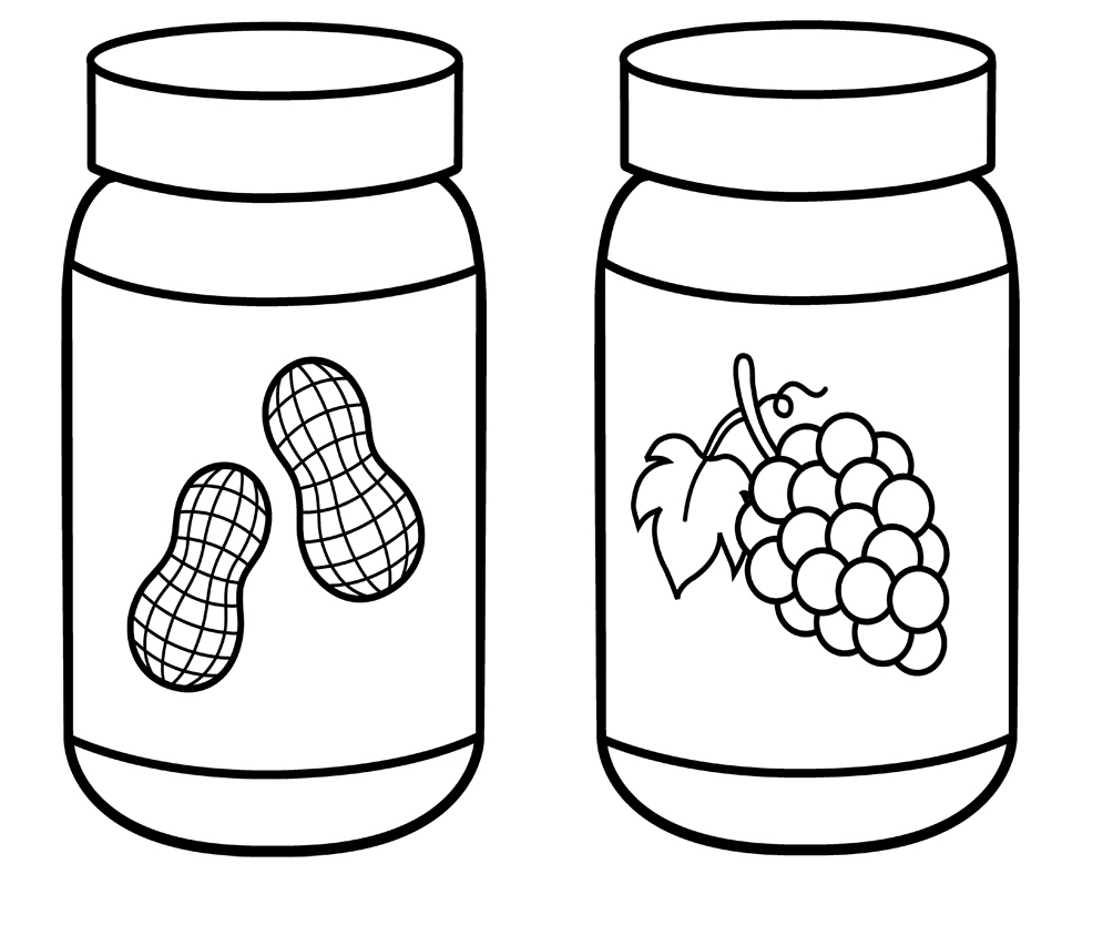 Peanut Butter clipart black and white peanut.