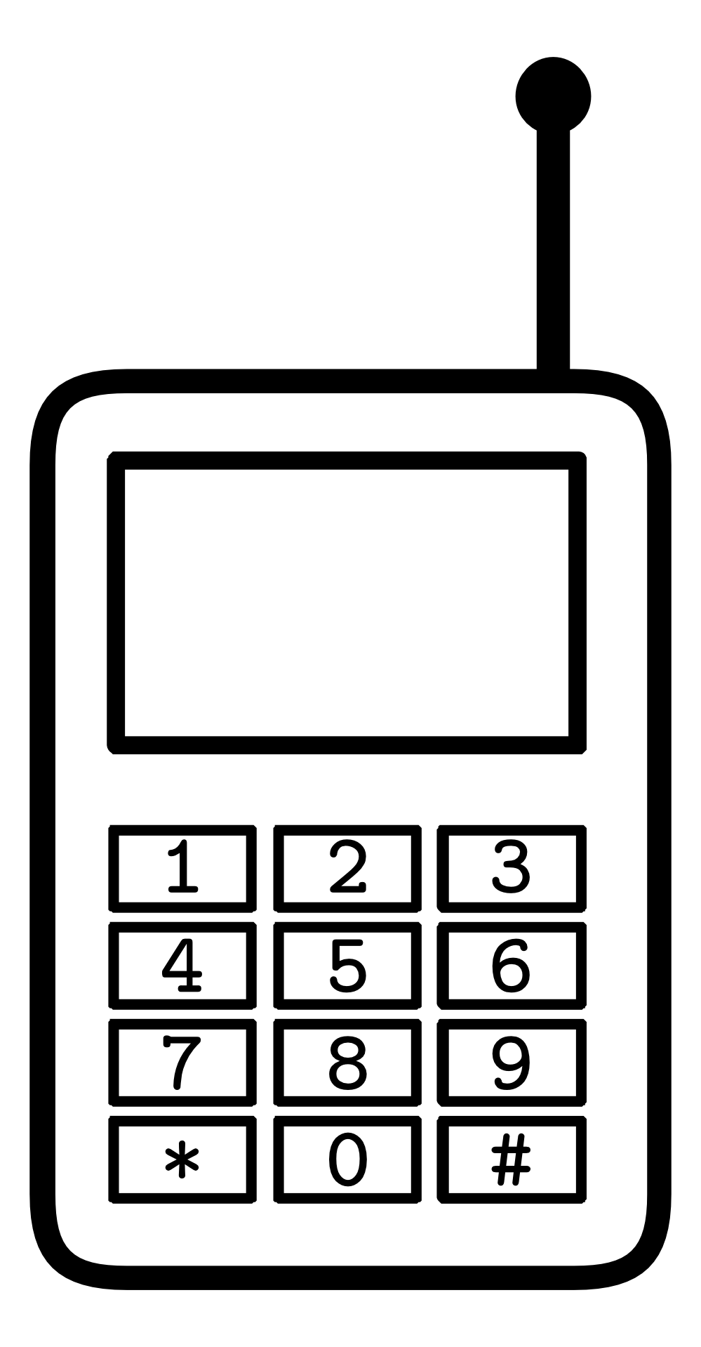Black And White Clipart Phone.