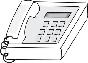 Free Desk Phone Clipart Image 0515.