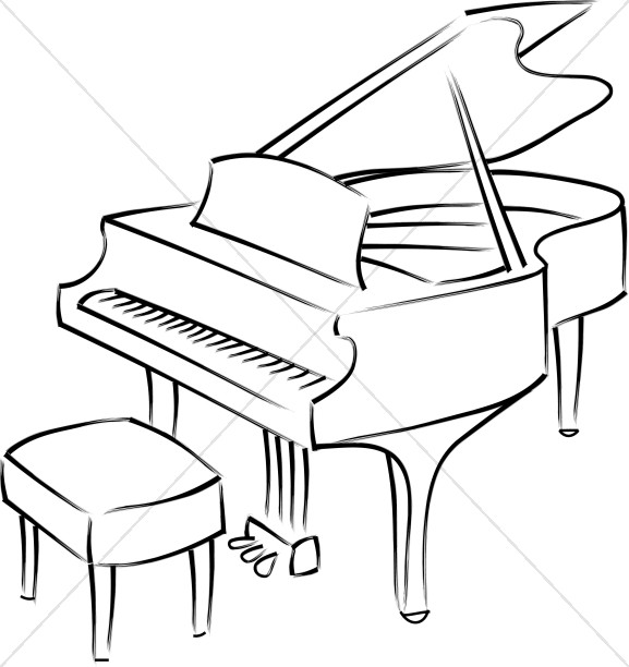 Piano Music Clipart Black And White.